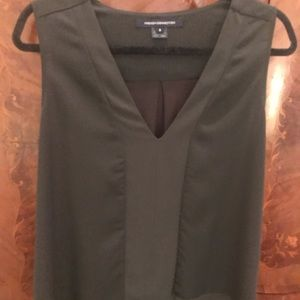 French Connection sleeveless blouse size S